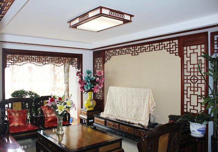 荣盛香榭兰庭中式风格装修效果图