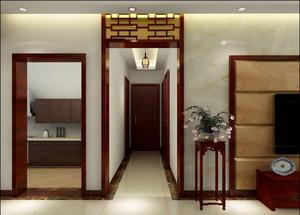 温岭85㎡中式风格装修效果图