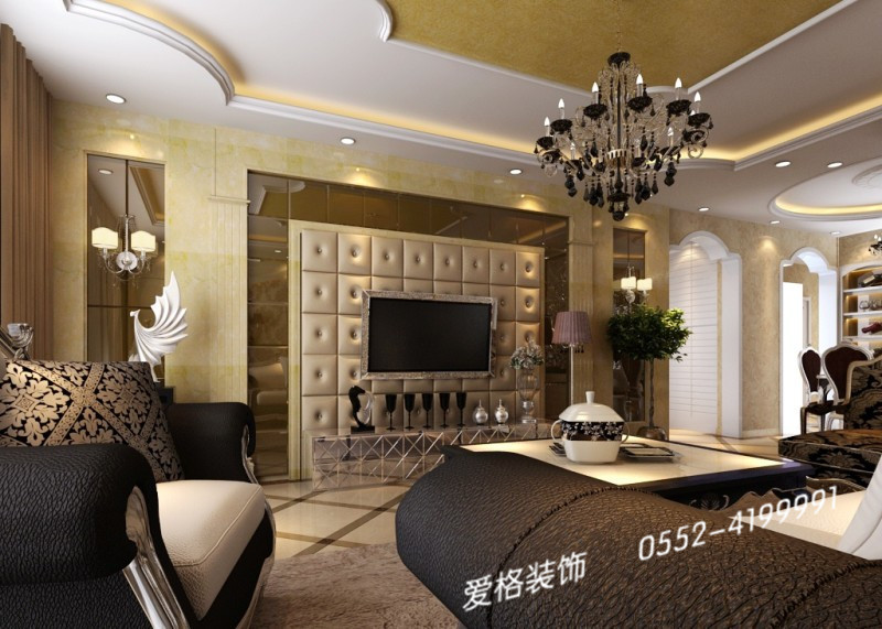 康恒嘉和豪庭欧式风格装修效果图