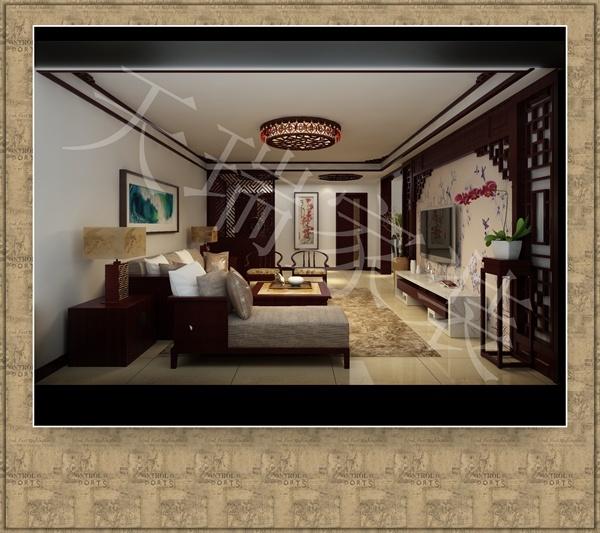 仁和公寓中式风格装修效果图