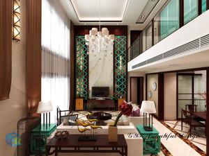 陆川168㎡中式风格装修效果图