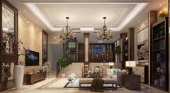 阳光府邸52#105中式风格装修案例