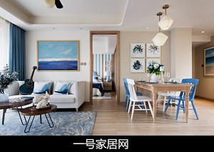 重庆90㎡地中海风格装修效果图