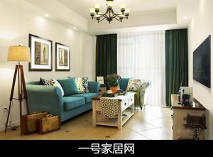 重庆88㎡美式风格装修效果图