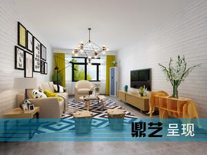 泗阳108㎡现代简约装修效果图