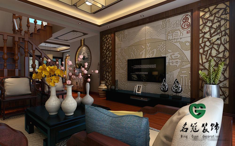 南艳瑞景1#中式风格装修效果图