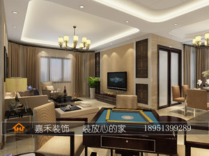 泗阳120㎡中式风格装修效果图