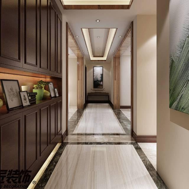 雅居乐星河湾230㎡普通户型中式风格装修案例