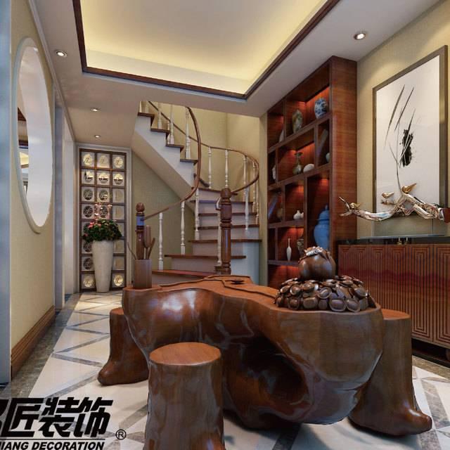 龙湖香醍漫步217㎡别墅现代简约装修案例