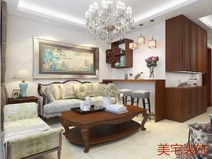 济南92㎡中式风格装修效果图