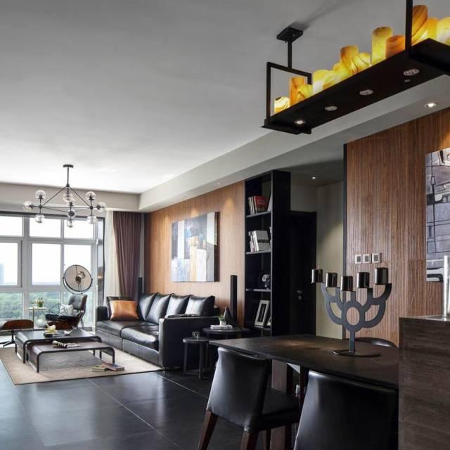 香蜜湖豪庭150㎡普通户型混搭风格装修案例