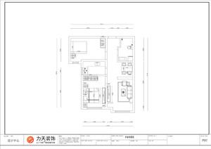 石家庄80㎡田园风格装修效果图