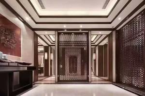 靖西500㎡中式风格装修效果图