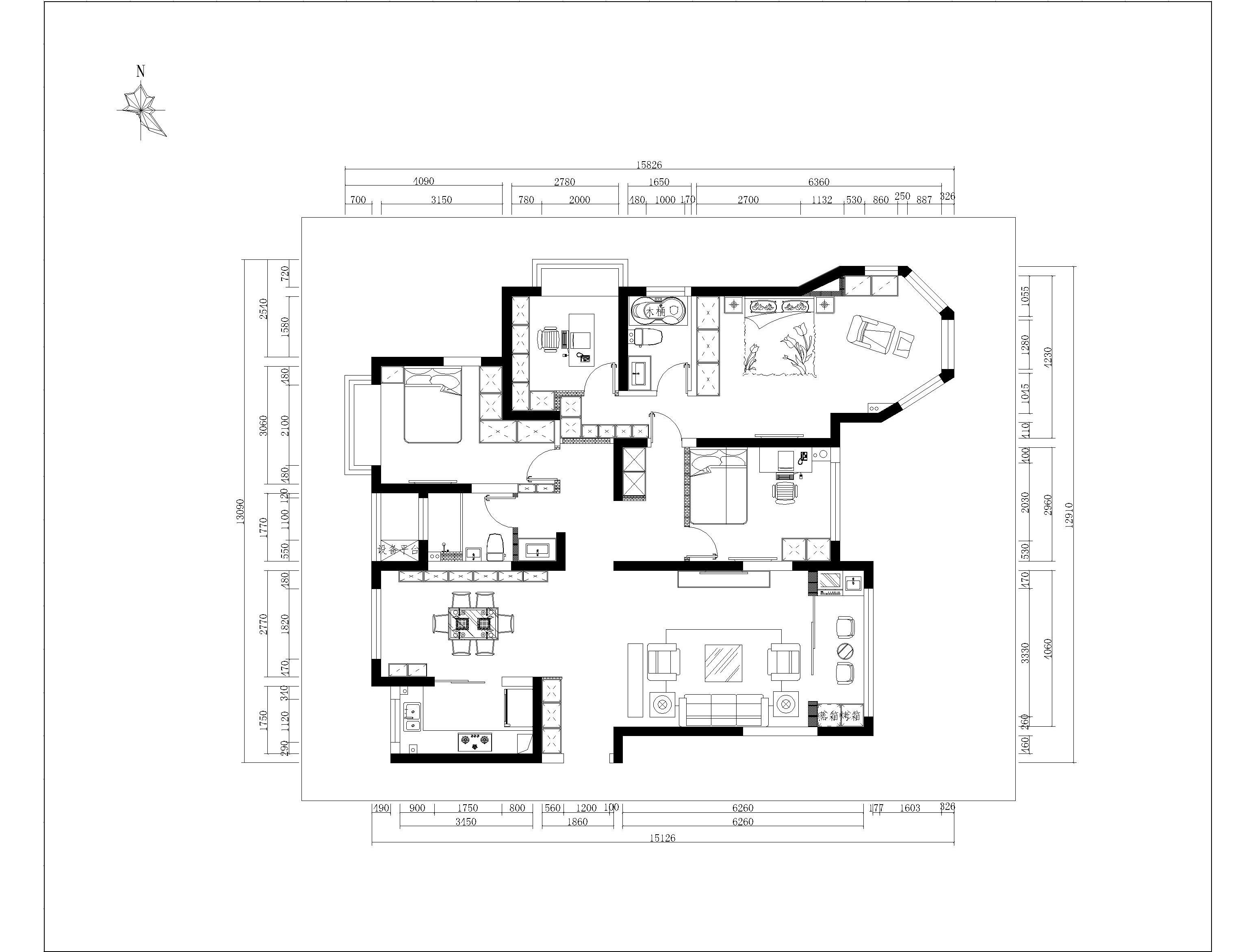 中南世纪花城现代简约装修效果图