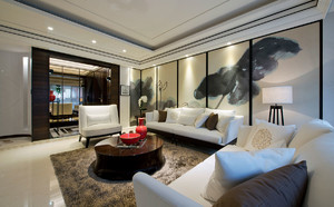 龙泉驿160㎡中式风格装修效果图