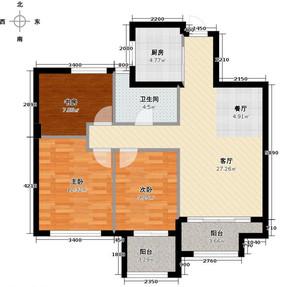 杭州90㎡美式风格装修效果图