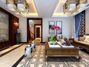 济南245㎡中式风格装修效果图