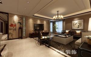 济南184㎡中式风格装修效果图