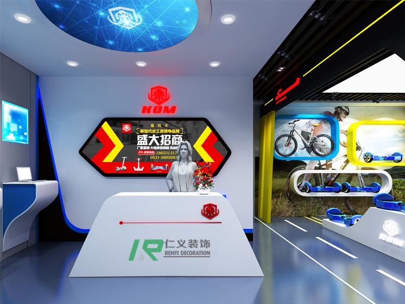 旅游路猛犸王平衡车展厅现代简约装修效果图