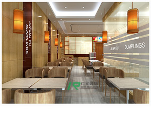 济南70㎡中式风格装修效果图