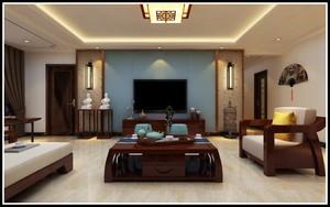 济南186㎡中式风格装修效果图