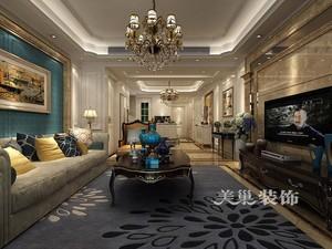 济南99㎡欧式风格装修效果图