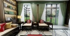 琥珀山庄别墅中式风格装修案例