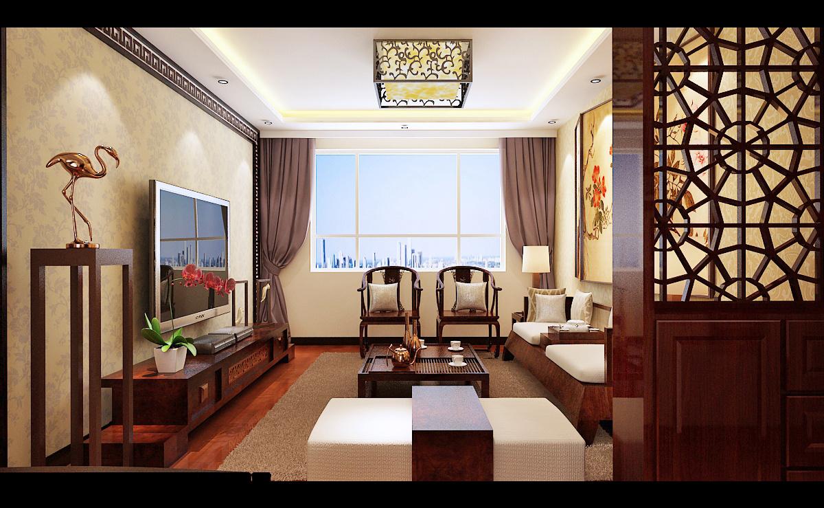 济南鲁能领秀城中式风格装修效果图