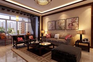 济南125㎡中式风格装修效果图