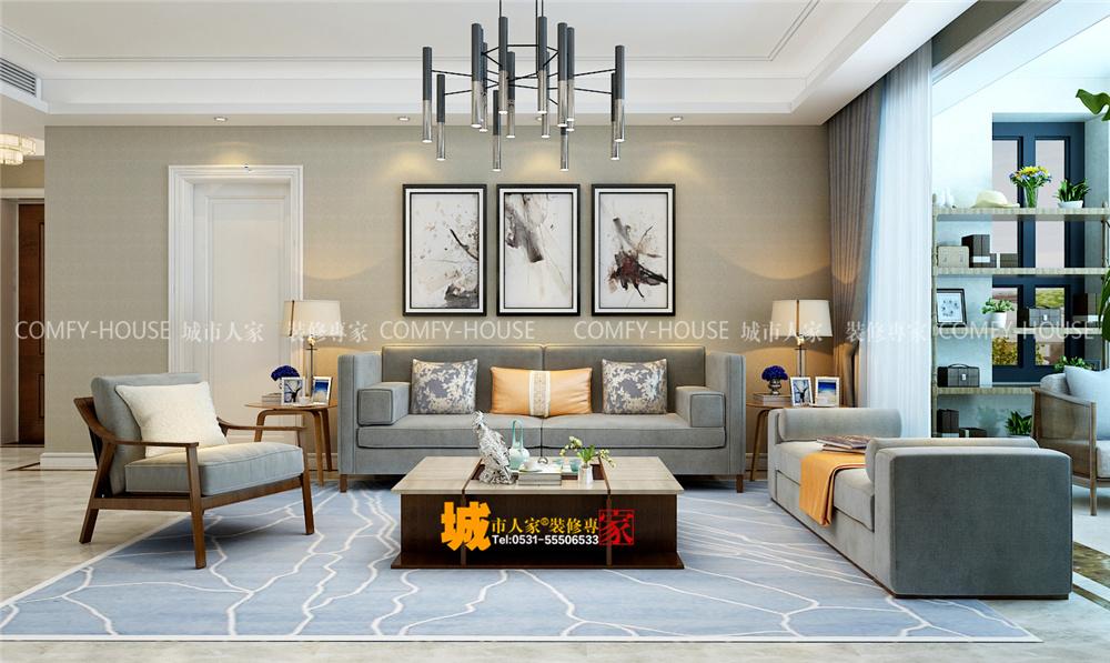 华润城·仰山现代简约装修效果图