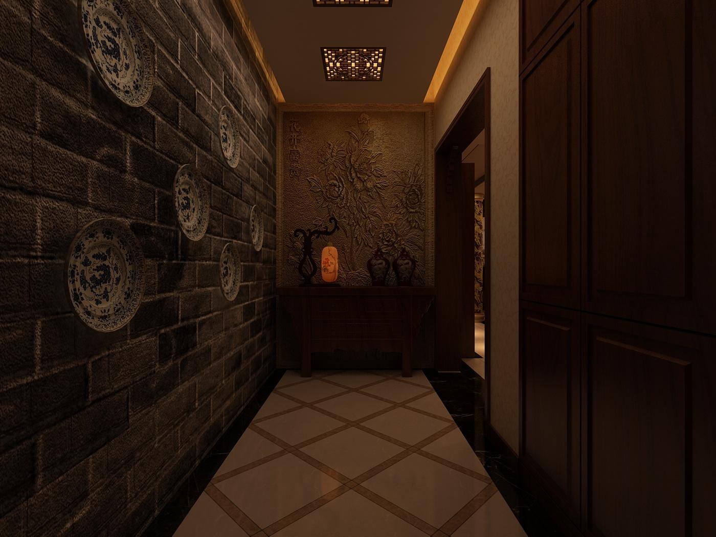 山水泉城中式风格装修效果图