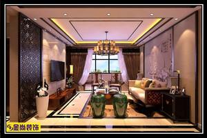 济南110㎡中式风格装修效果图