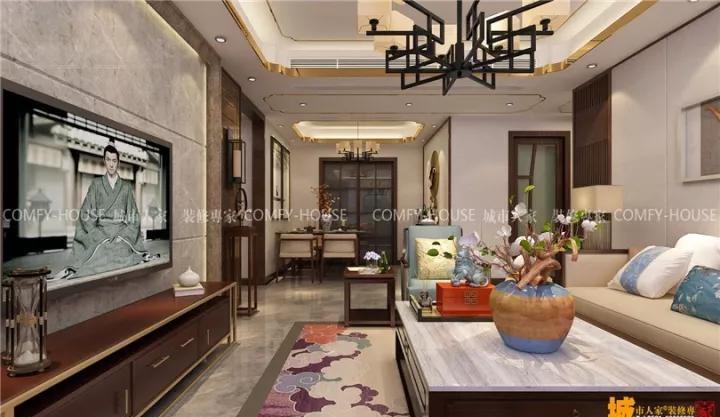 中南世纪锦城中式风格装修效果图