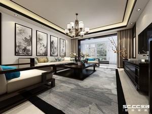 唐山99㎡中式风格装修效果图