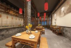 匆忙客连锁餐饮店中式风格装修案例