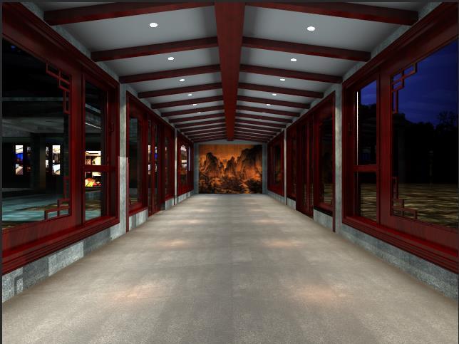 苏府别墅中式风格装修效果图