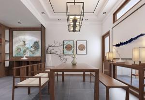 阜阳248㎡中式风格装修效果图