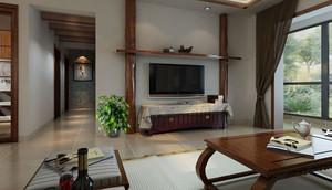 扬州79㎡中式风格装修效果图