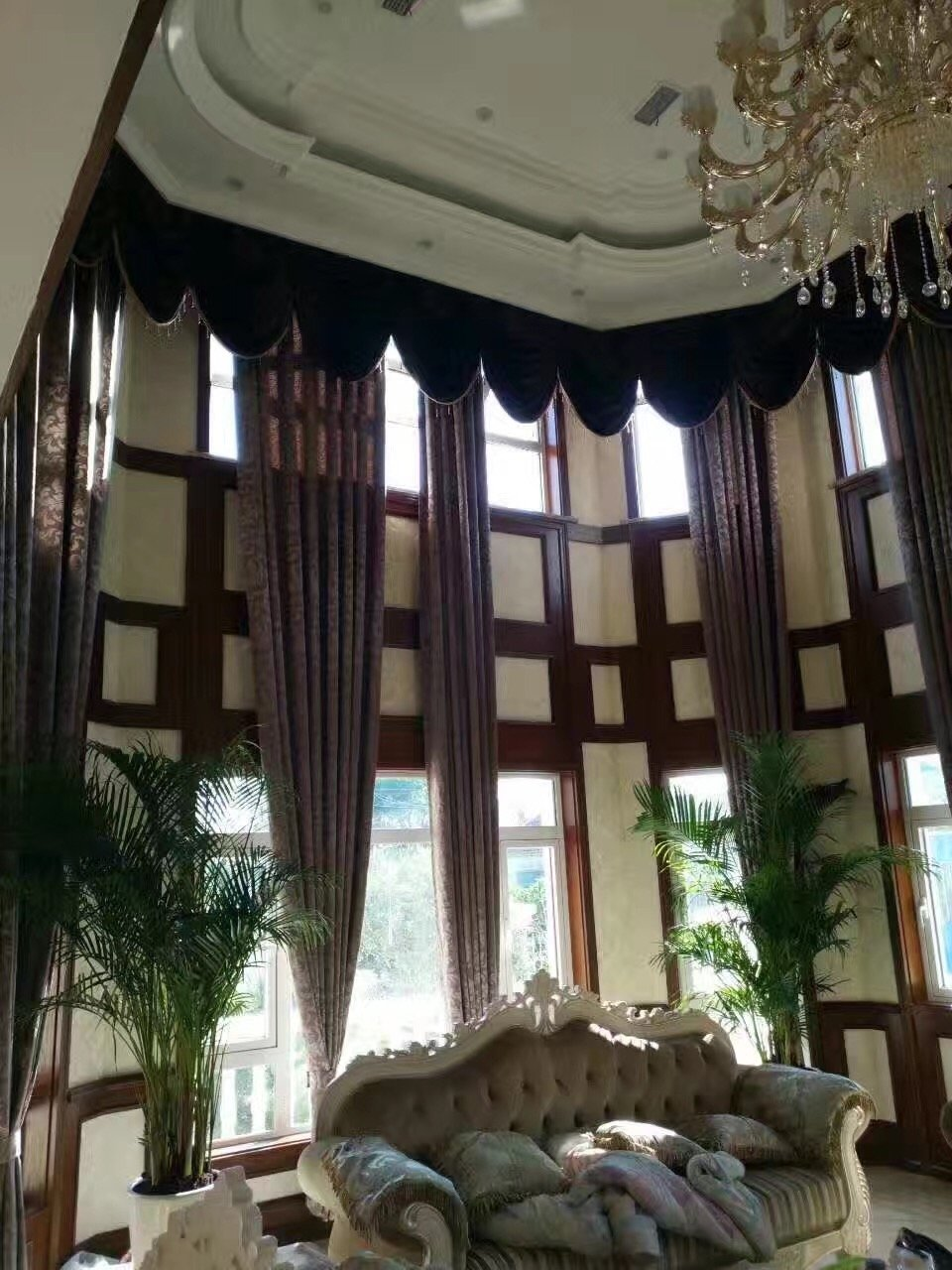 新河花园自建别墅美式风格装修效果图