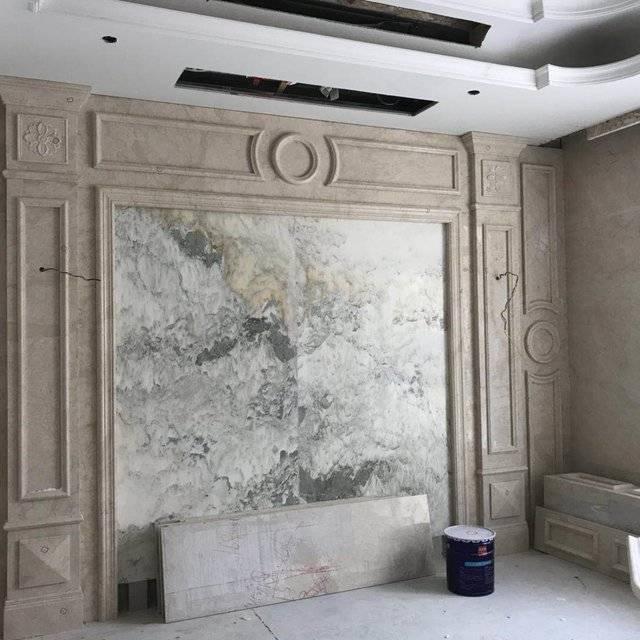 仰龙湾别墅21-101大理石安装瓦工收尾280㎡别墅欧式风格装修案例