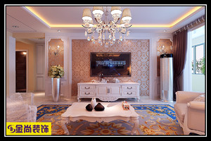 济南155㎡欧式风格装修效果图