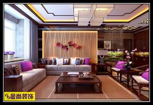 济南138㎡中式风格装修效果图