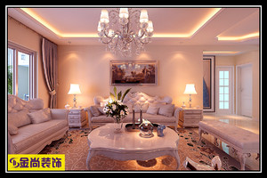 济南130㎡欧式风格装修效果图