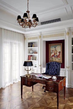 绿地香颂别墅美式风格装修案例