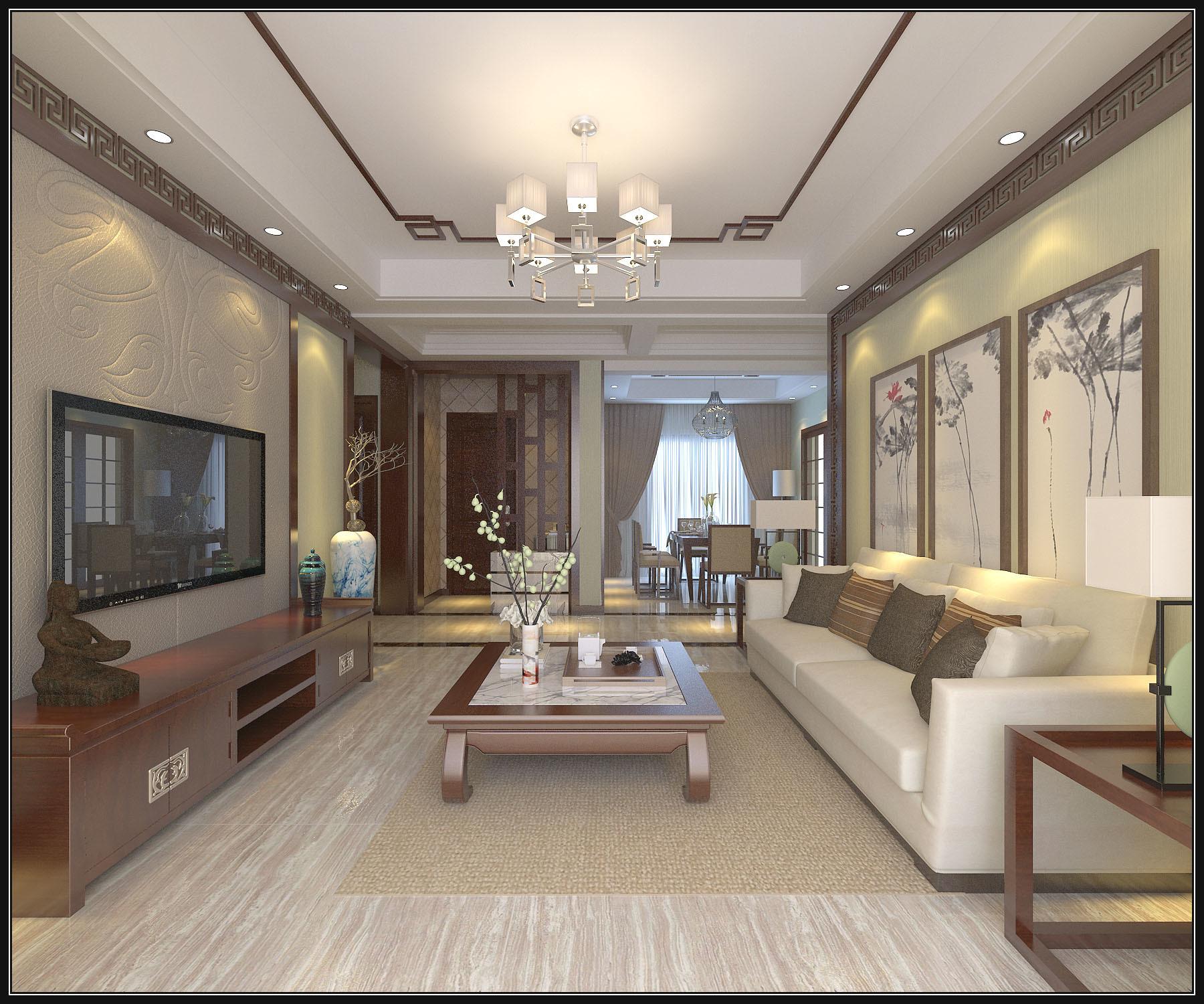 丽都名邸中式风格装修效果图