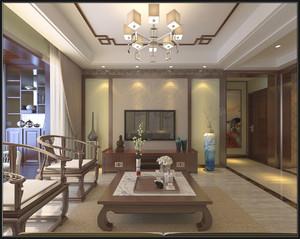 洛阳125㎡中式风格装修效果图