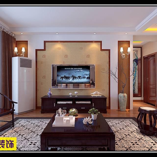 中海国际140㎡普通户型中式风格装修案例