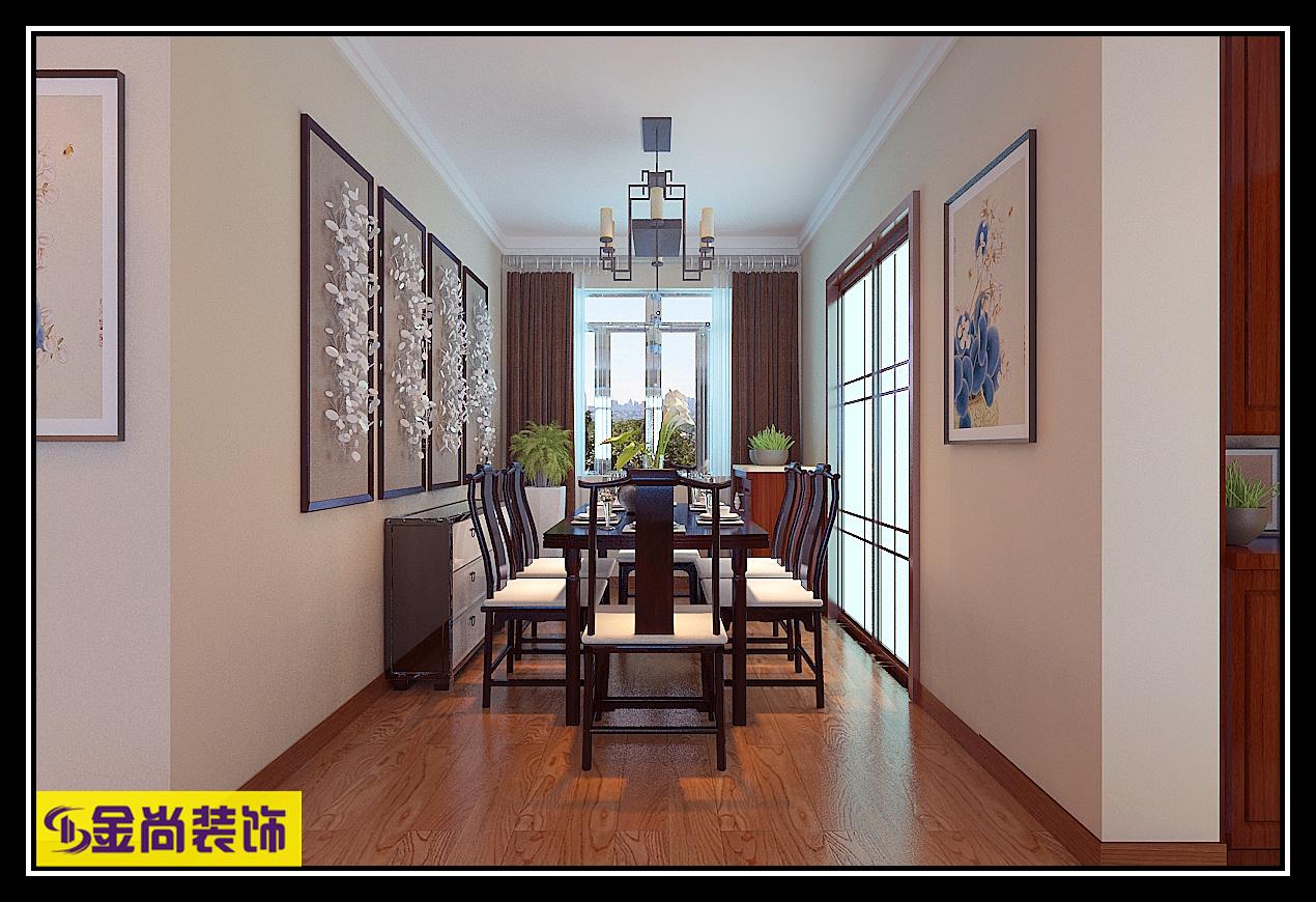 中海国际中式风格装修效果图
