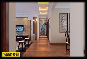 济南140㎡中式风格装修效果图