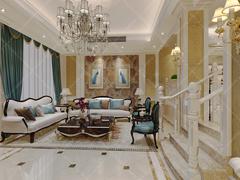 [义银装饰]圣地雅歌250平米别墅简欧设计欧式风格装修案例